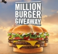 Jack In The Box 1,000,000 Burger Giveaway